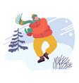 christmas holidays activity winter time season vector image vector image