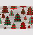 christmas tartan texture vector image vector image