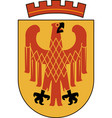 coat of arms of potsdam in brandenburg germany vector image