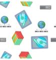 Computer repair pattern cartoon style vector image