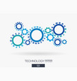 connected cogwheels digital network technology vector image