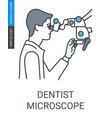dentist microscope icon vector image vector image