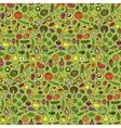 Doodle vegetarian seamless pattern vector image vector image