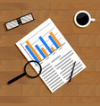 economics and statistics vector image vector image