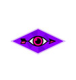 eye and arrow logo sign emblem image isolated on vector image vector image