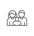 family mother father child line icon vector image