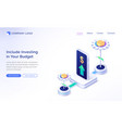 financial budget planning isometric landing page vector image