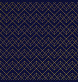 gold geometric pattern with lines on dark blue vector image vector image