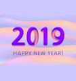 gradient design 2019 happy new year for banner or vector image vector image
