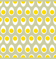 half egg with yolk seamless ornament easter food vector image vector image