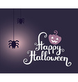 halloween with text happy halloween glowin vector image vector image