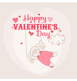 Happy Valentines Day Card - Bunny Theme vector image vector image
