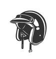 helmet vintage vector image vector image