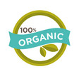 hundred percent organic sign vector image