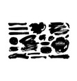 ink brush strokes and shapes collection vector image