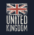 inscription great britain with british flag vector image vector image
