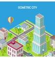 Isometric City Modern Architecture Skyscraper vector image vector image