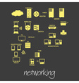 it computer networking symbols simple banner eps10 vector image vector image
