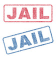 jail textile stamps vector image vector image