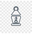 lantern concept linear icon isolated on vector image