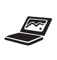 Laptop black icon isolated vector image