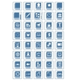 library icon set vector image