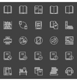 Library linear icons set vector image vector image