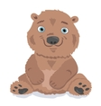 Little bear isolated on white vector image vector image