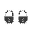 lock open and closed vector image