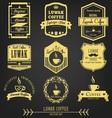 Luwak Coffee Premium Vintage Label vector image vector image