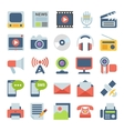 Media and Communication Flat icons vector image