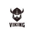 minimalist warrior viking head logo icon vector image