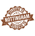 nottingham round ribbon seal vector image vector image