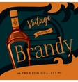 Old style brandy or brandywine poster vector image vector image