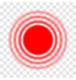 pain symbols red circles of pain isolated on a vector image vector image