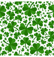 patrick day clover leaves green seamless pattern vector image