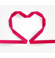 Pink Ribboned Love Heart vector image