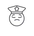 policeman emoji concept line editable vector image vector image