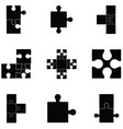 puzzle icon set vector image