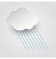 Rainy cloud icon vector image