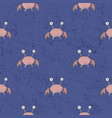 seamless pattern crabs background vector image