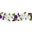 seamless pattern of convolvulus garland with vector image vector image