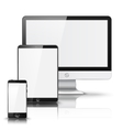 Set of all size screen devices for site preview vector image vector image