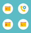 set of development icons flat style symbols with vector image