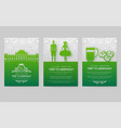 set of germany country ornament vector image vector image