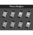 Set of Models Interface Smartphone vector image