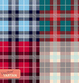 Set of seamless tartan pattern vector image vector image