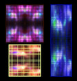 set of textures of luminous objects in the vector image