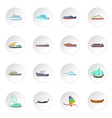 Ship and boat icons set vector image vector image