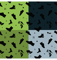Shoes seamless pattern colors vector image vector image